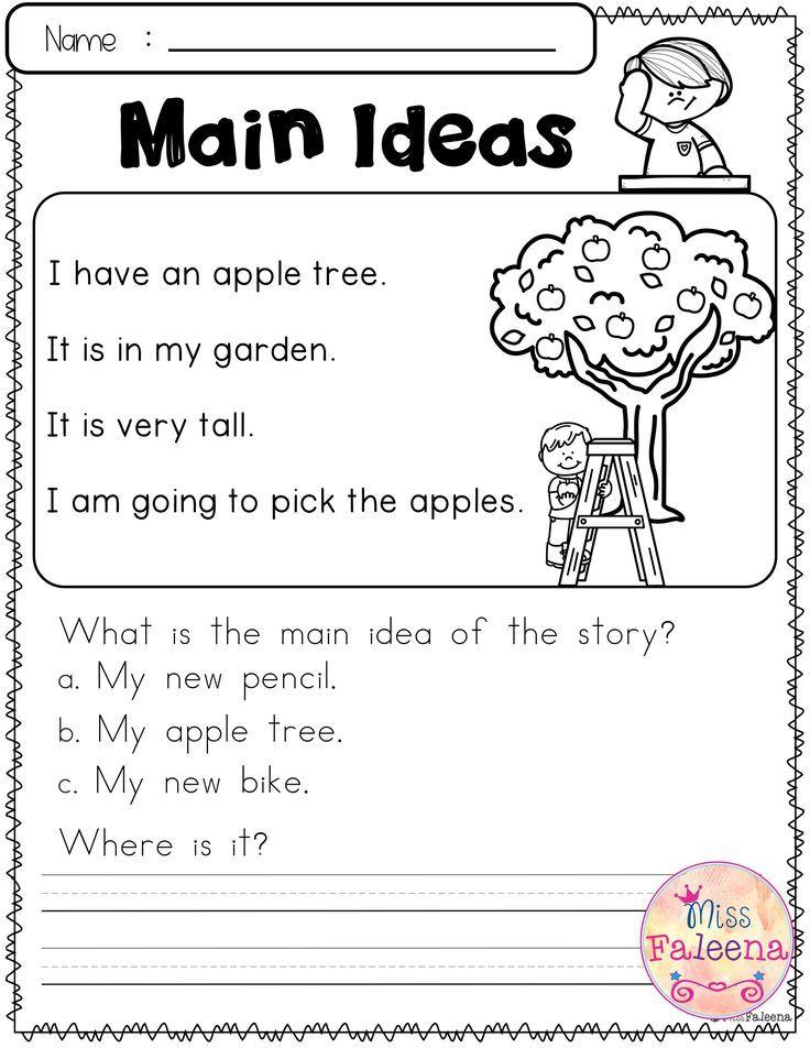 16+ Free reading worksheets main idea Top