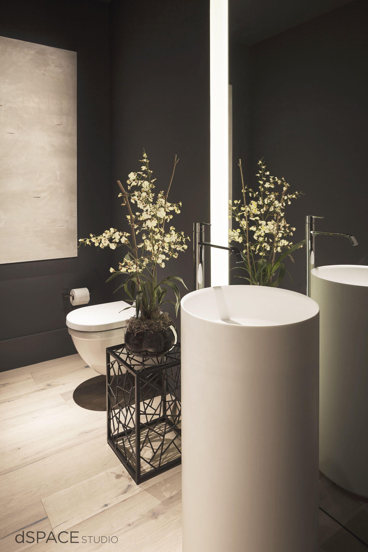 ATRIUM HOUSE - Powder Room  Modern bathroom sink, Modern bathroom
