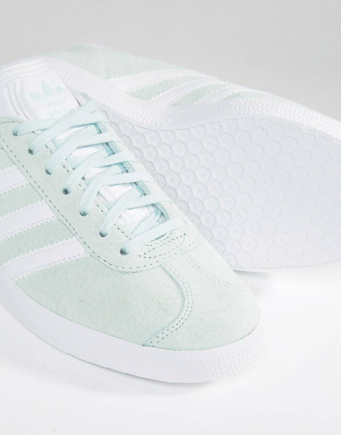 adidas Originals Gazelle Baskets en daim Vert menthe