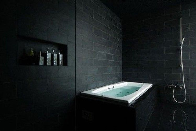 Best Chic Small Black And White Bathroom Designs #4163 | Black Bathrooms |  Pinterest | Bathroom Tiling, Tile Design And Bathroom Designs