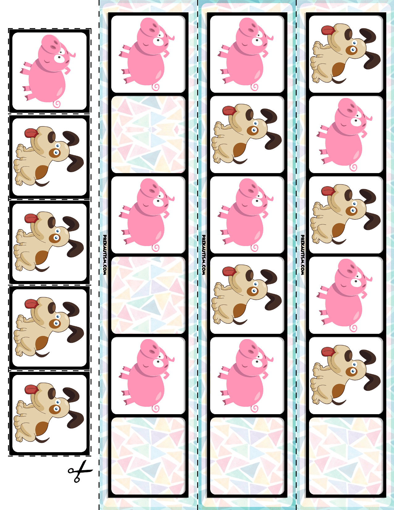 Farm Animals Ab Pattern Cards