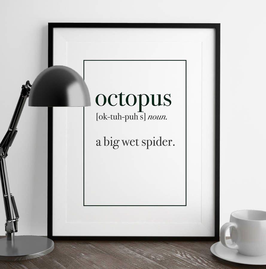 Octopus definition print my first pinterest