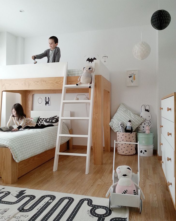 2 Amazing Scandinavian Style Kids Rooms Petit Small Kids Shared Bedroom Kids Rooms Shared Scandinavian Kids Rooms