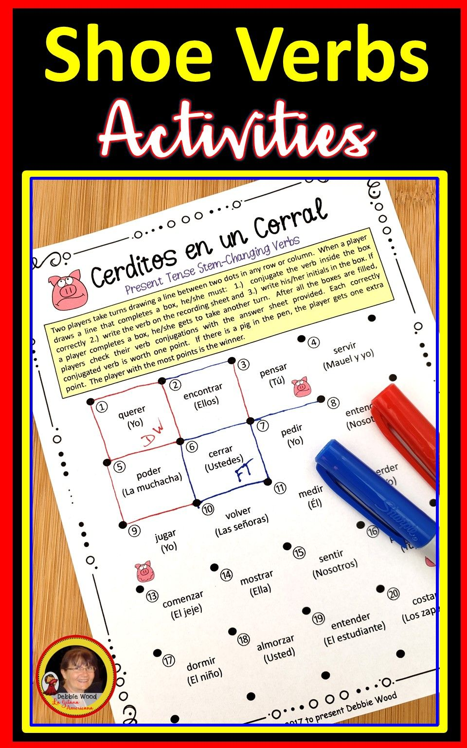 Spanish Stem Changing Verbs Bundle Debbie Wood Spanish