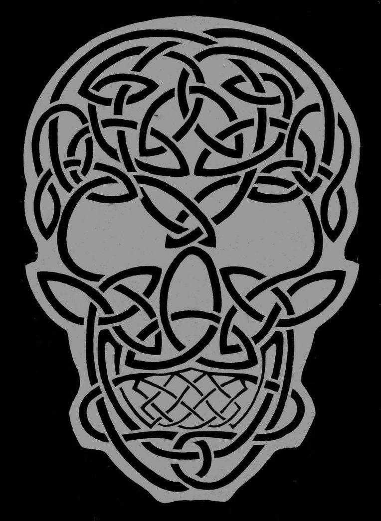 Celtic skull celtic skull by theraevyn13 celtic for Celtic skull tattoo