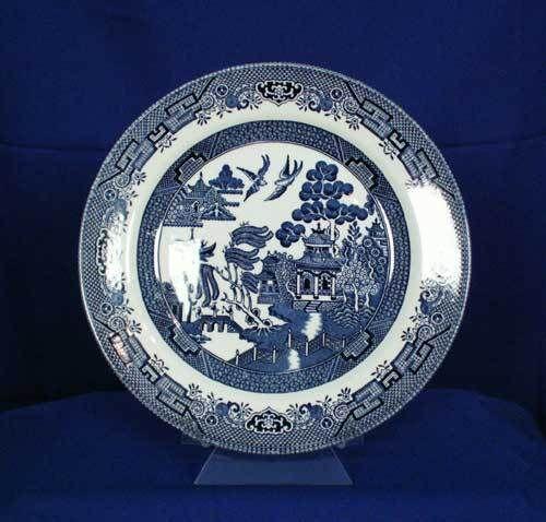 Churchill England Blue Willow Pattern Dinner Plate (Older Mark) bfe0231 & Churchill England Blue Willow Pattern Dinner Plate (Older Mark ...