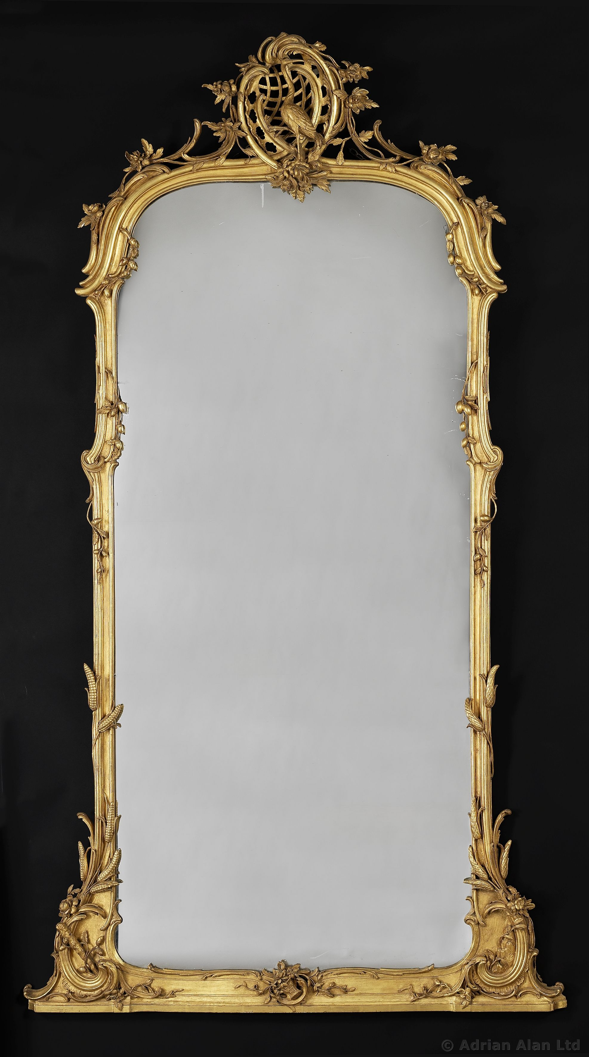 A very fine carved giltwood mirror german circa 1860 a very fine carved giltwood mirror german circa 1860 adrianalan amipublicfo Images