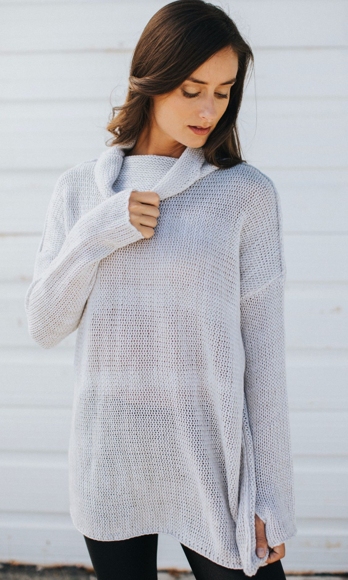 Spring Lightweight Cowl Neck Sweater | Products | Pinterest | Products