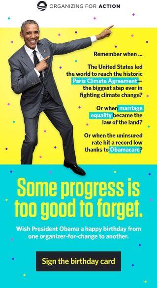 How To Wish President Obama Happy Birthday I Saw You In His Eyes
