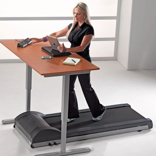 The LifeSpan TR800-DT3 Standing Desk Treadmill is the perfect way to walk while you work - $799