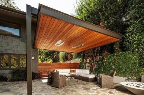 Image Result For Slanted Roof Pergola Designs