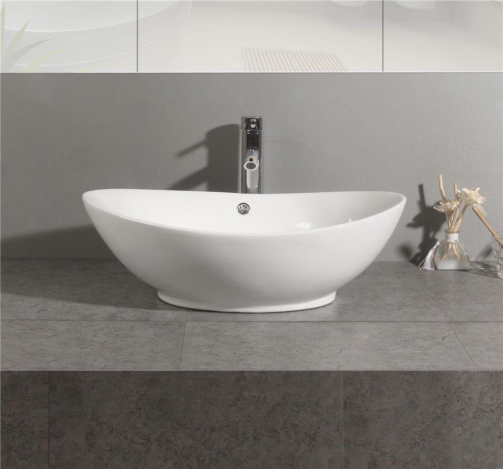 Bathroom Ceramic Basin Porcelain Sink Vessel Vanity Bowl Pop Up Counter Top Usa Unbranded Porcelain Sink Sink Bathroom