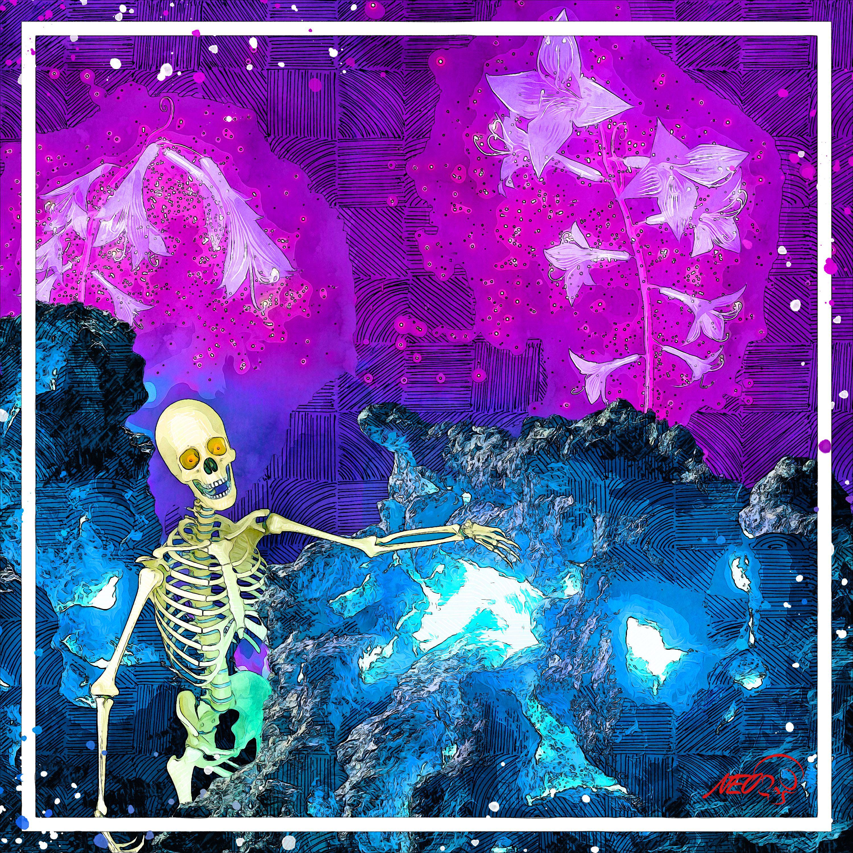 Welcome weary traveler 💀 . . . #digitalsketchbook #spooky #spookyart   #neonnoir  #skeletons #intothedeep  #skeletonsofinstagram #deathcult #darkart #deathworship #artistsoninstagrams #moleskine #darktransmissions #darksurrealism #theoutsiders #outsiderart #strangeart #alternativeart #gothiclife #crazyart #fluorescent #trippypainting #psychedelicart #ilovefantasyart #fantasyworld #darkcave