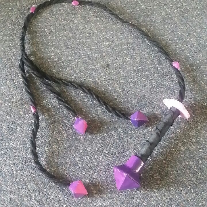 Hey Julie here again. Following my most recent cosplay Amethyst form steven universe i thought i would show you guys my whip. Description of how I made it is on our facebook and tumblr so be sure to head on over to those pages and check it out. #cosplay #cosplayprop #stevenuniversecosplay #props