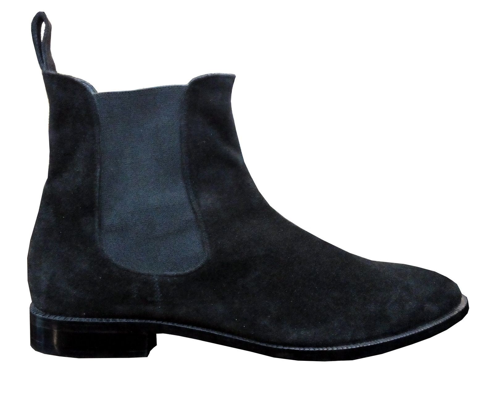 30a9f064e6b Handmade Men's Navy Blue Color Chelsea Boot, Men's Suede High Ankle ...