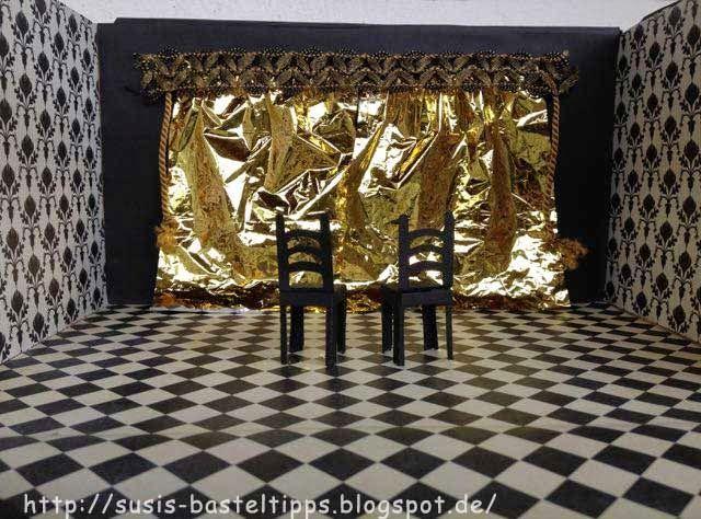 theatergutschein kreativ verpackt als theater mit stampin up designerpapier basteln. Black Bedroom Furniture Sets. Home Design Ideas