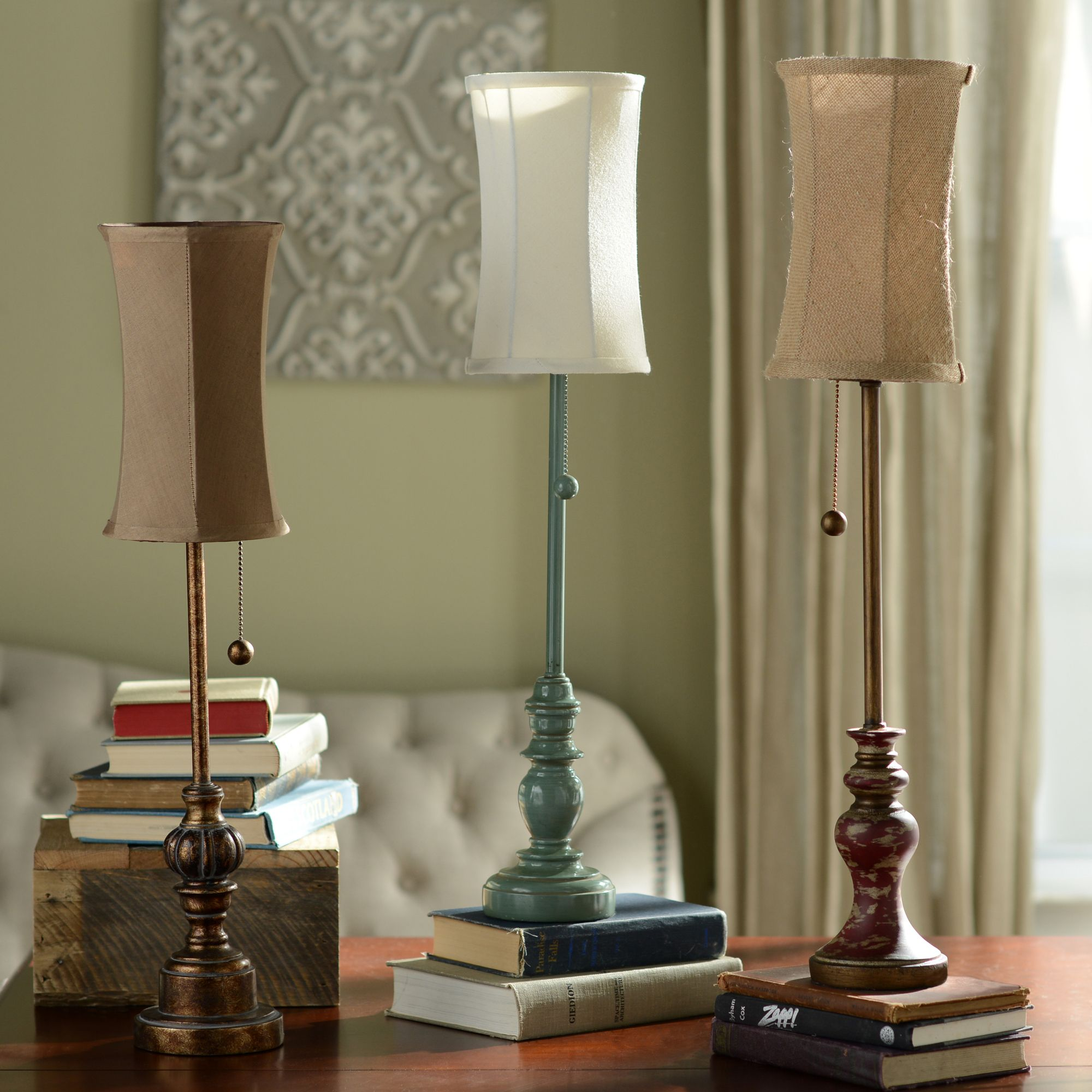 Add a Kirkland s Buffet Lamp to your end table console table