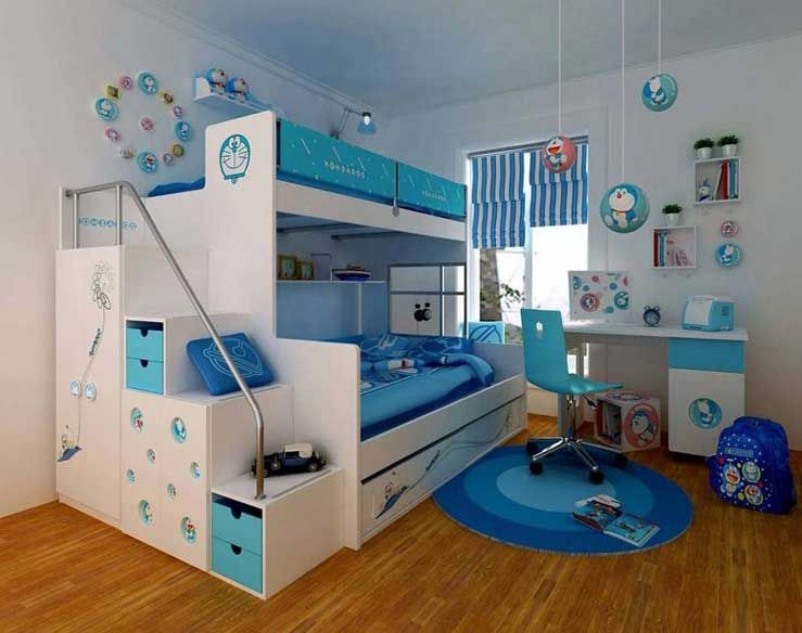 etagenbett kind wei und blau f r kinderzimmer. Black Bedroom Furniture Sets. Home Design Ideas