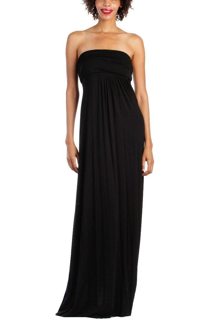 plusandcute.com plain strapless dress (01) #cuteclothes | All ...