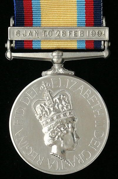 British / Canadian: Gulf Medal (1990 to 1991)