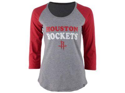 los angeles 3710d 83bff Houston Rockets '47 NBA Women's Club Block Raglan T-Shirt ...