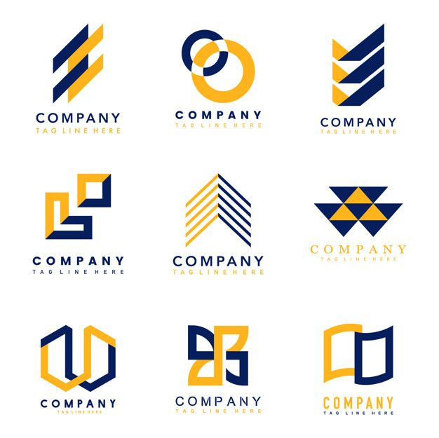 Conjunto de ideas de diseño de logotipo   Free Vector