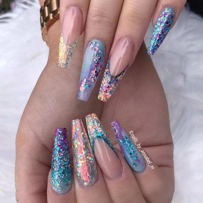 21 Cool Designs For Your Nails Coffin Shape
