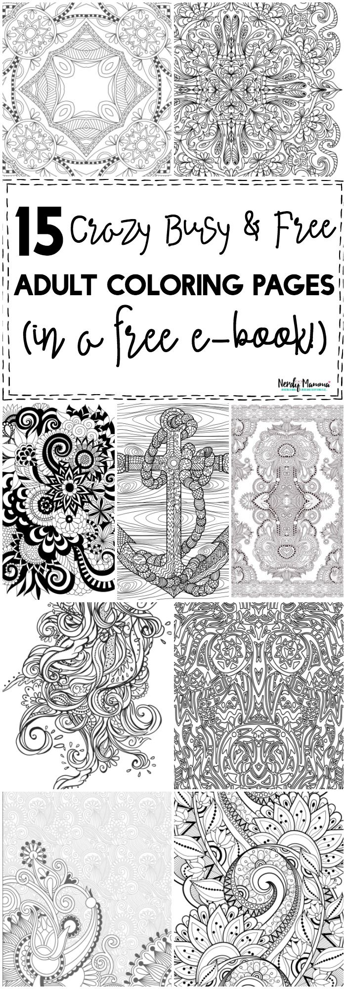 OMG! These are the BEST crazy busy & free adult coloring pages! They ...