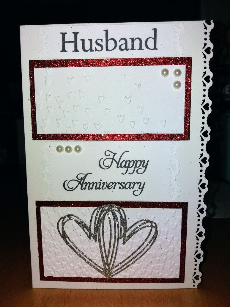 Handmade husband anniversary card my handmade greeting cards