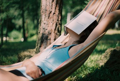 Hammock with a good book.