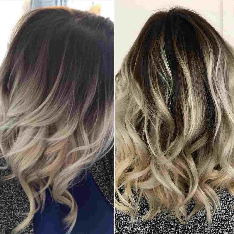 Light Blonde Hair With Dark Brown Lowlights Dark Roots Blonde