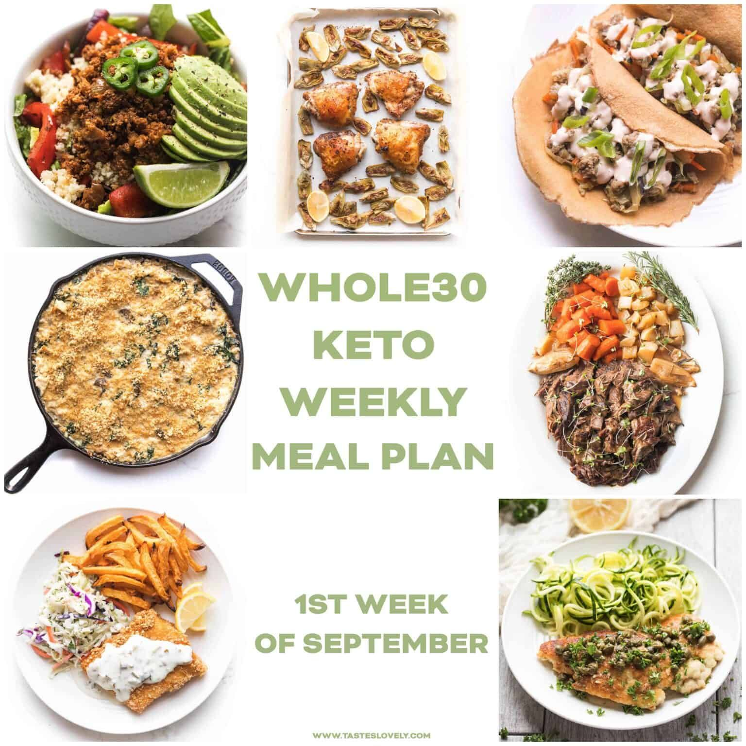 Whole30 + Keto Weekly Meal Plan for the 1st week of ...