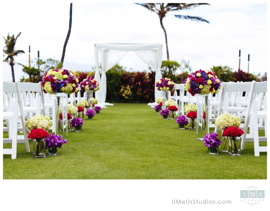 Four Seasons Maui Wedding Ceremony Setup