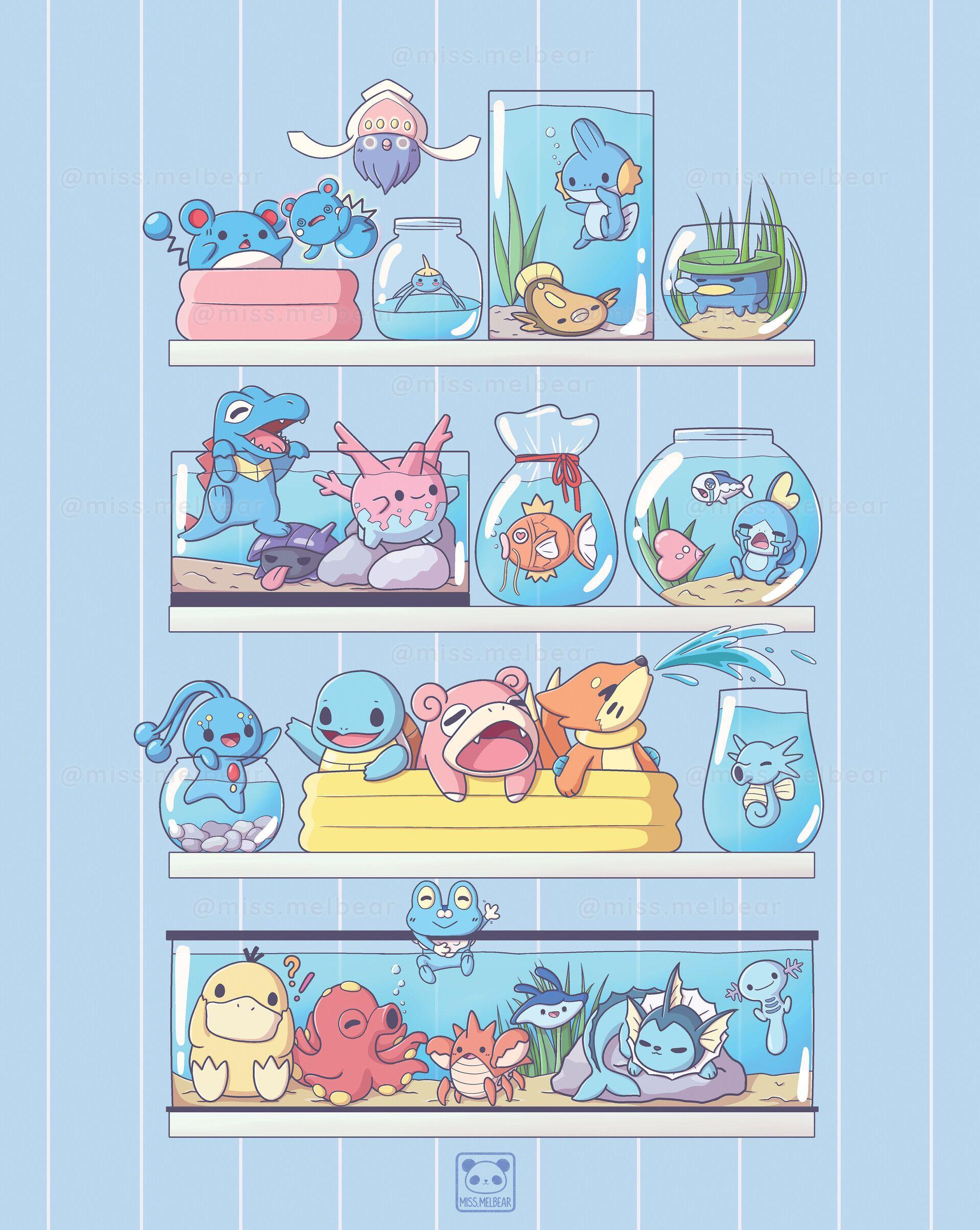 Aesthetic Pokemon Water Edition Cute Pokemon Pictures Pokemon Pokemon Poster
