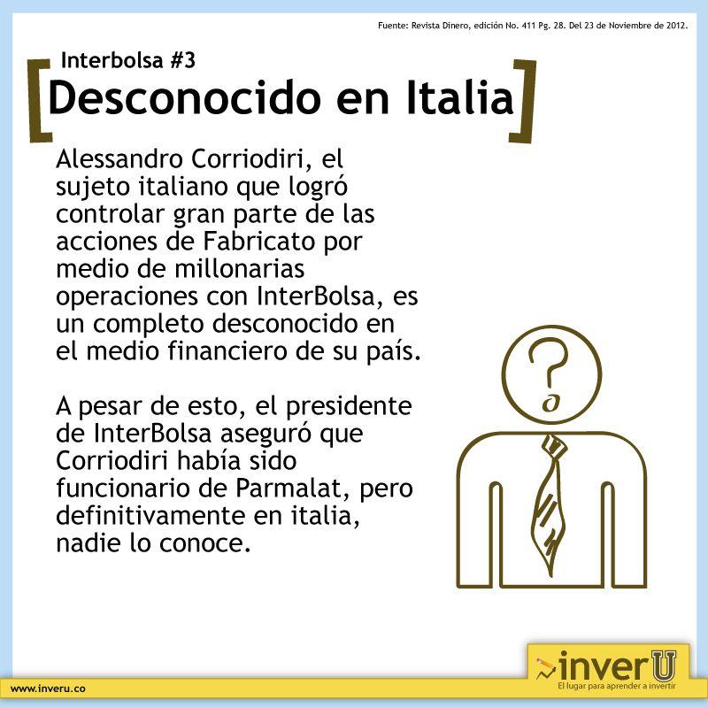 El Italiano que se hizo con muchas acciones de Fabricato por medio de InterBolsa, resutó ser un desconocido en Italia.