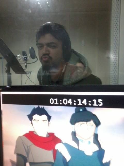 (Poor quality) Screenshots from Book 2! (The people in the sound booths are the Latin American voice actors.)