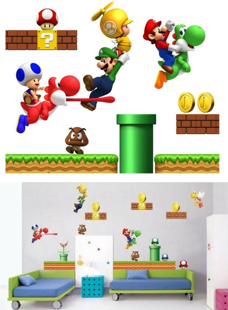Super Mario Wandtattoo | Wandaufkleber für das Kinderzimmer ...
