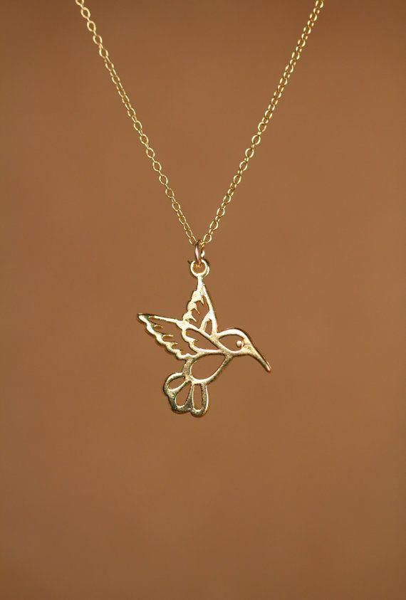 14k Diamond-cut Doves w//Heart Pendant