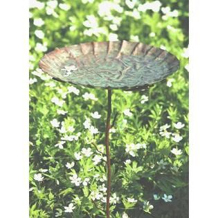 Ancient Graffiti Copper Plated Verdigris Staked Garden Decoration $48.49