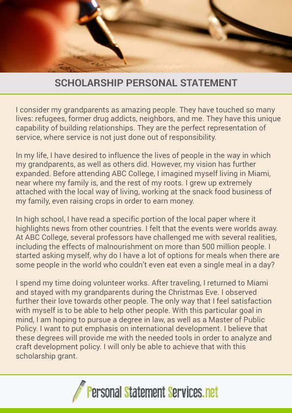 To write a scholarship personal statement is not easy as resume - personal statement for resume