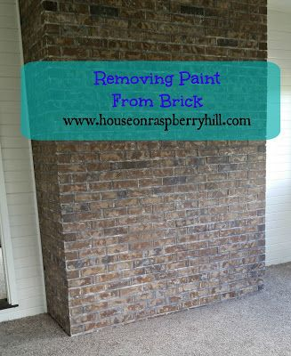House on raspberry hill removing paint from brick home pinterest bricks house and for Stripping paint from brick exterior