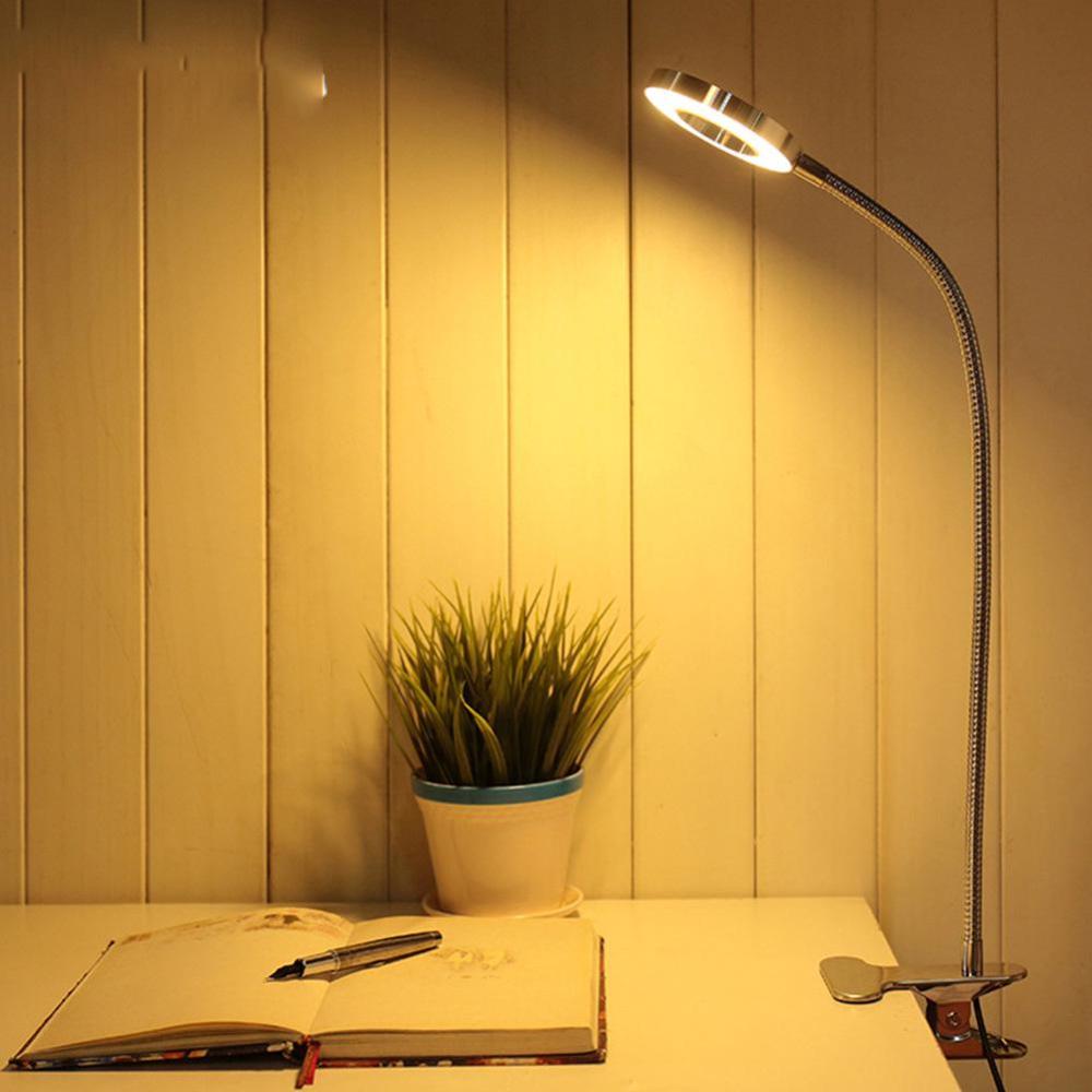 Eye Study Dimming Clip Bedside Desk Table Lamp Usb Led Light Shopee Philippines In 2020 Lamp Desk Light Bottle Table Lamps