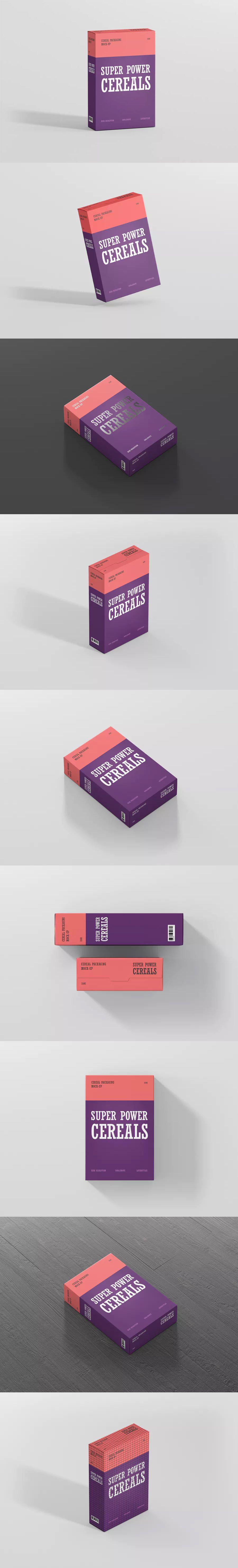 Cereals Box Mockup By Visconbiz On Envato Elements Box Mockup Cereal Box Box
