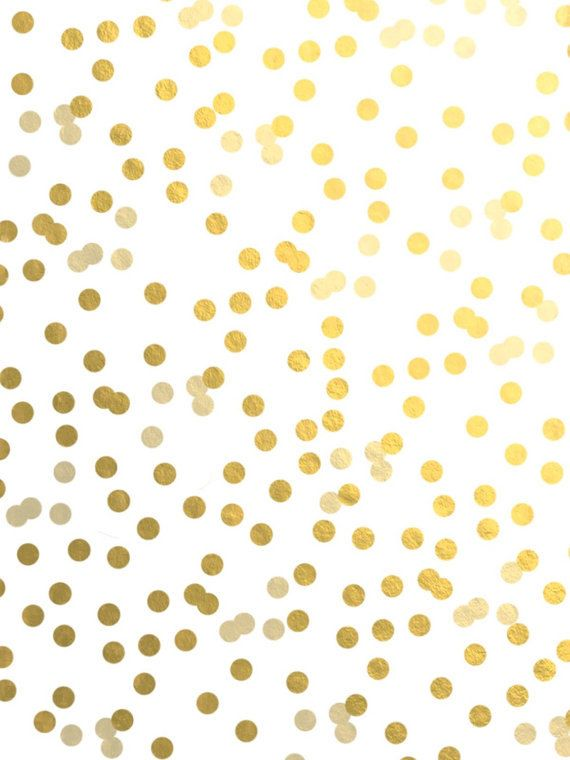 Gold polka dots vinyl wall decal sticker wall art by krismattshop ...