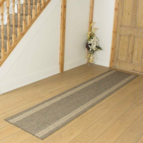 Photo of World Menagerie flatweave carpet Adriane in brown / cream | Wayfair.de