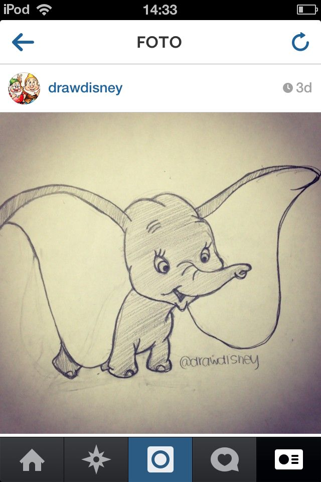 Drawing Is One Of Your Favorite Things And Dumbo Was One Of My Favorite Books You Read To Me Tekenen Disney Tekenen Olifanten