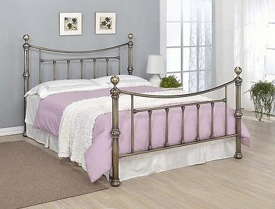 Contemporary brass bed frame double king size elegant #victorian ...