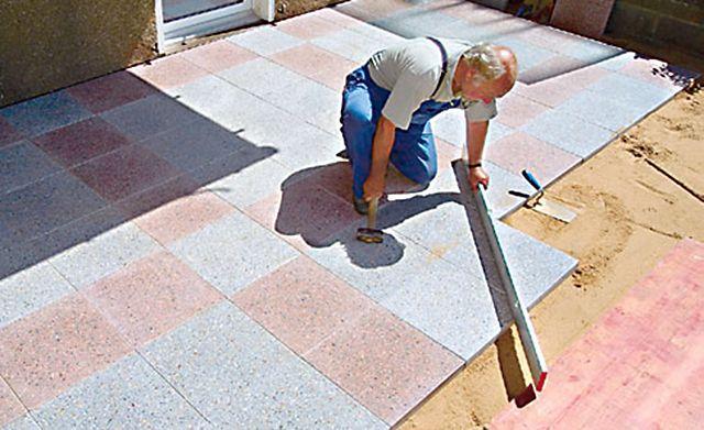 Terrasse mit Betonplatten | Terrasse | Pinterest | Betonplatten ...