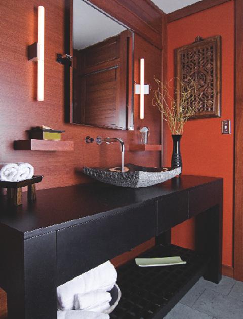 Superieur Asian Inspired Condo Bathroom. Designer: Cheryl Kees Clendenon; Photo By:  GFR