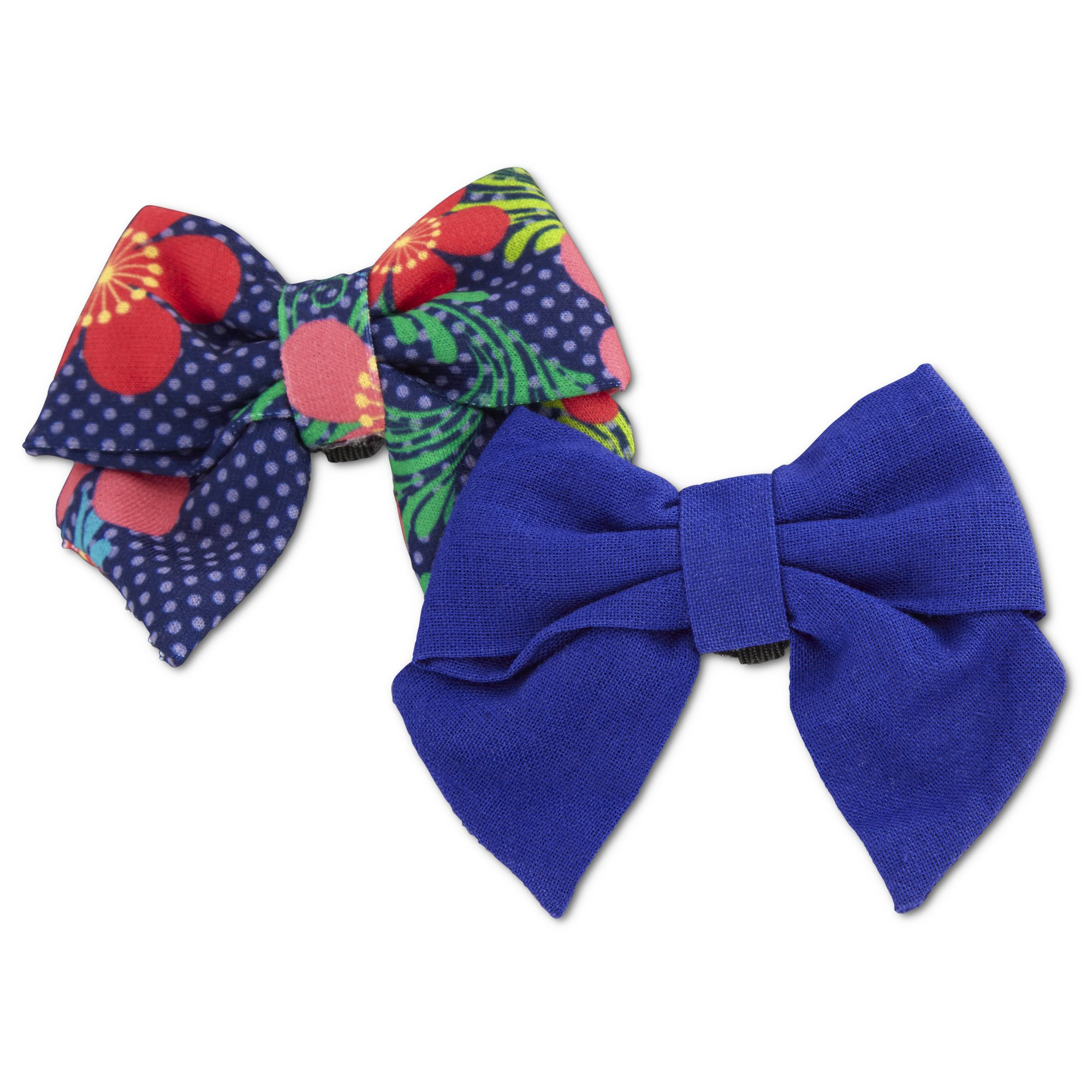 Bond Co Blue Floral Bows For Small Dogs 2 Pack Small Dogs Dog Hair Bows Petco